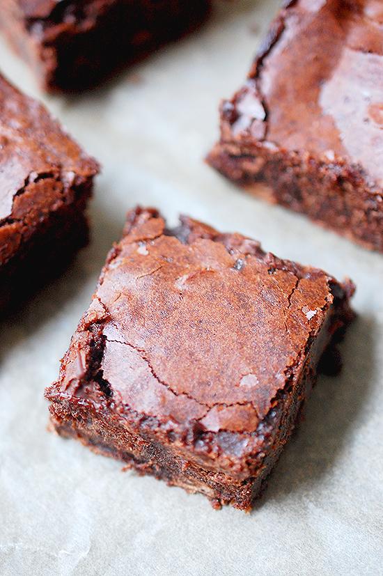 One bowl salted brownies