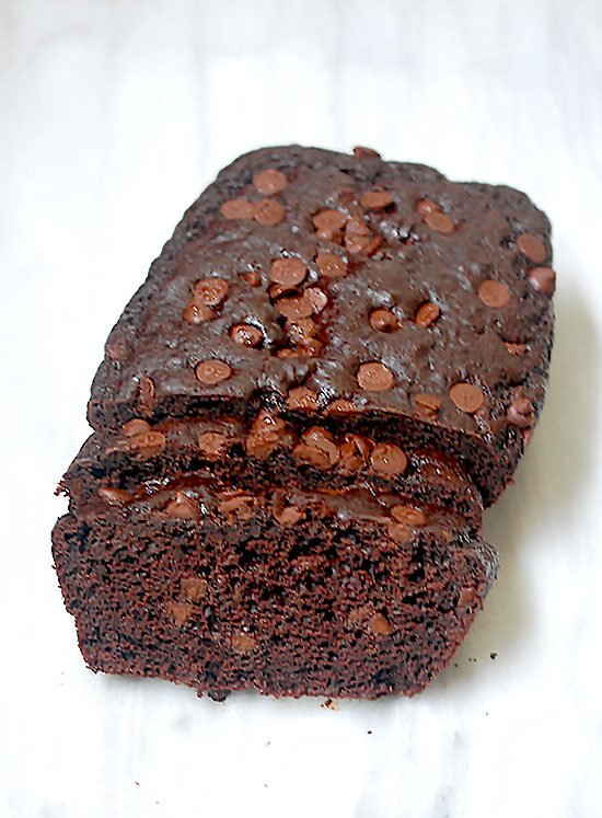 Double chocolate chip quick bread