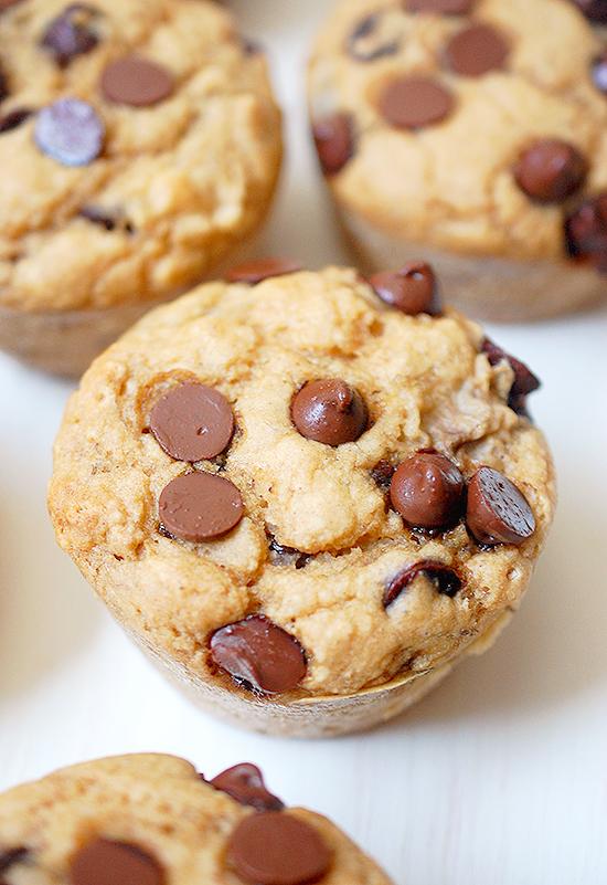 One bowl vegan chocolate chip muffins