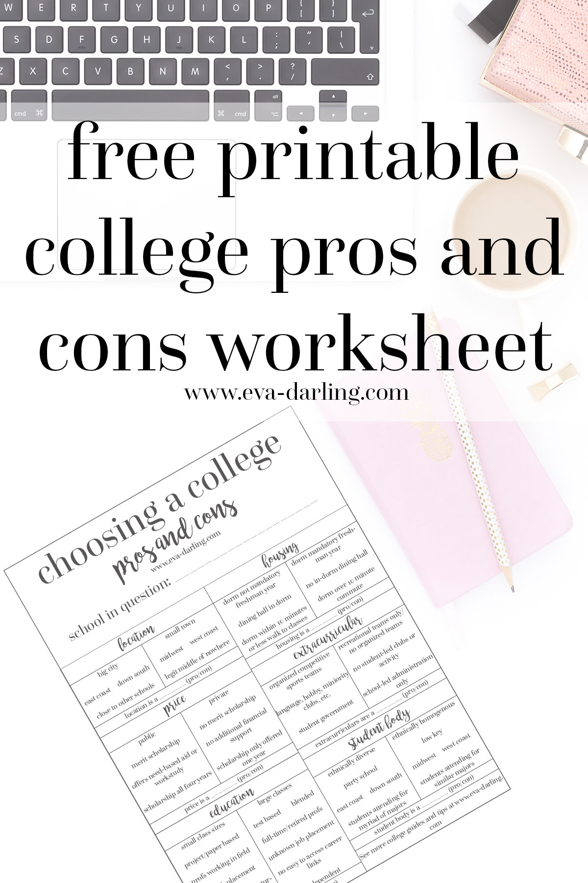 How To Determine Your College Pros And Cons Free