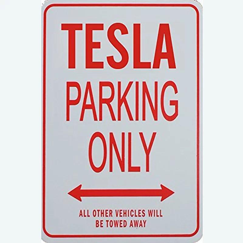 Parking Signs - Tesla