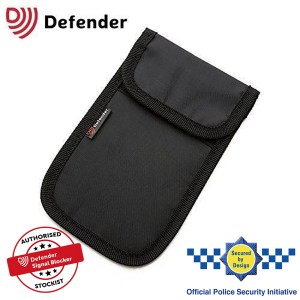 Defender Signal Blocker Authorised Stockist Secured By Design Black OT01119