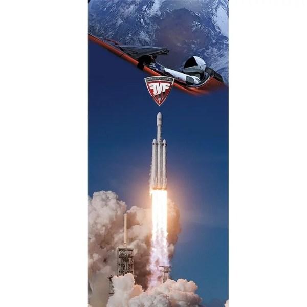 Tesla High Power Wall Connector Skin Vinyl Decal Falcon Heavy MF Edition