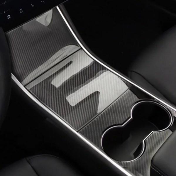 Tesla Model 3 Real Carbon Fibe Centre Console Trim
