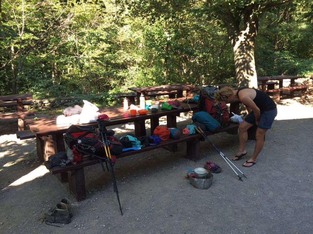 morning-ritual-packing-bags-and-stuff-for-hiking