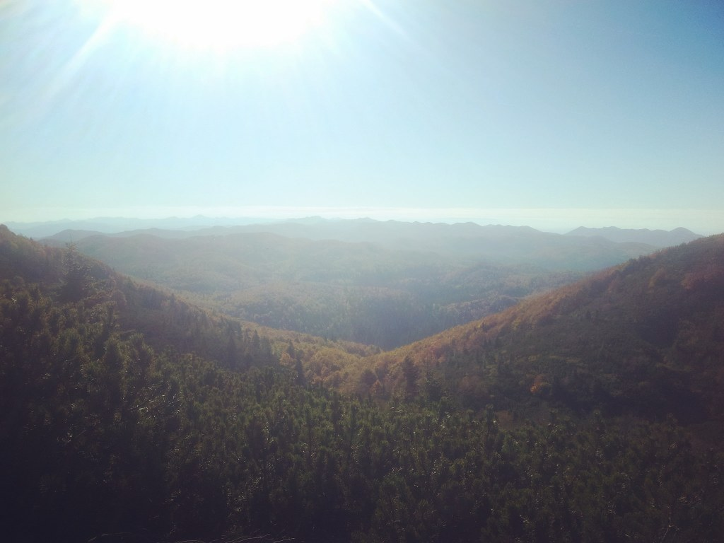 Early morning view on Snežnik forest. Super sunny freezing cold amazing autumn! Yes, this is why I hike.