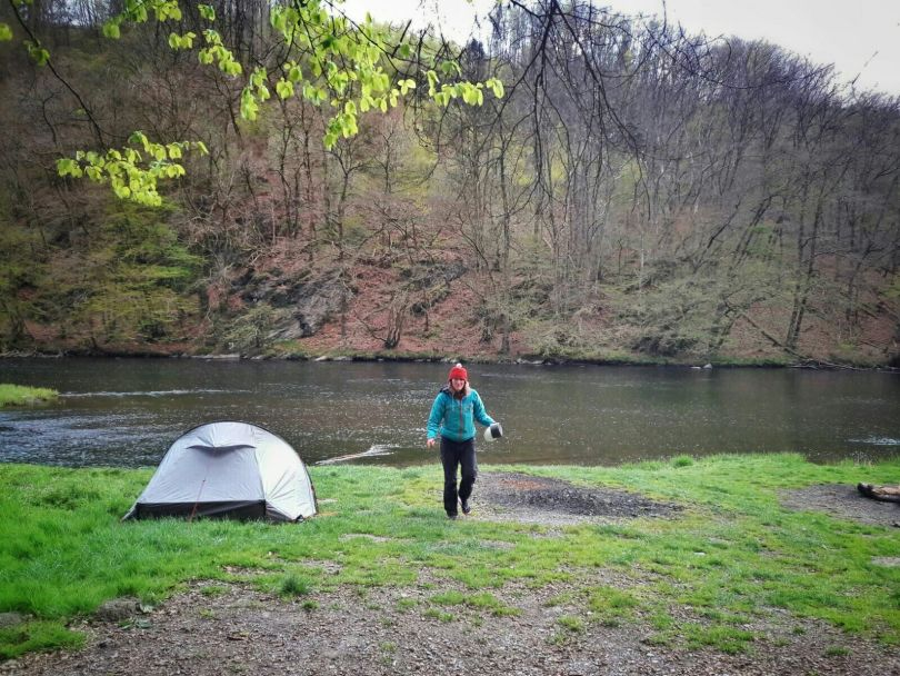 Camping at the Ourthe | Walking through Wallonia