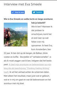 In de media: HET interview GAAN en Beleven Eva Smeele