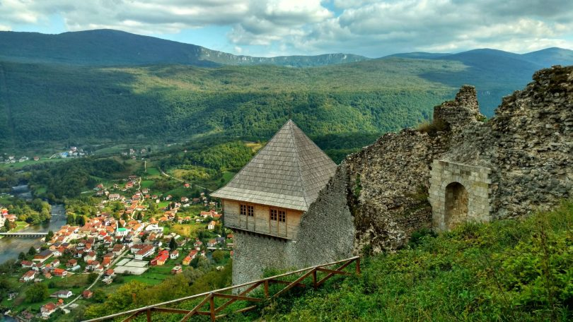 Kulen Vakuf view from castle Ostrovivca