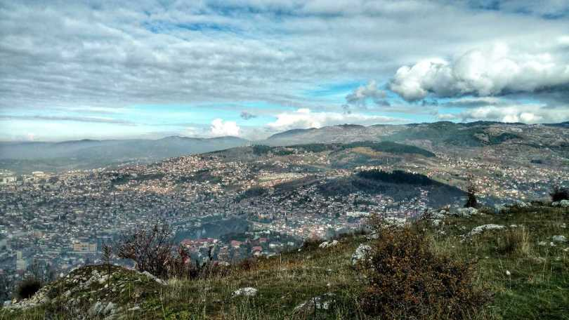 Looking back on November: Hiking Trebević, Sarajevo cityview