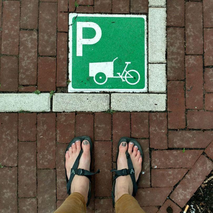 Bakfiets parking