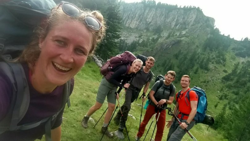 Dutch hiking buddies