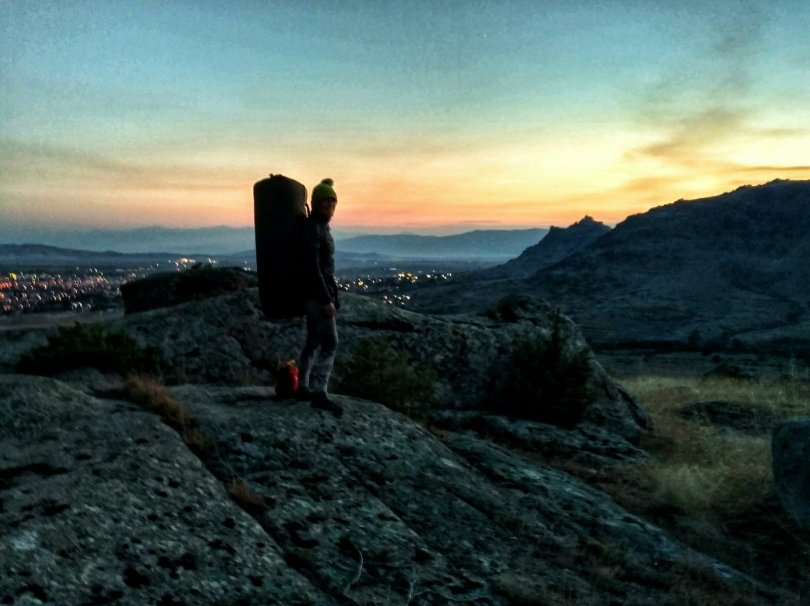 Bouldering in Prilep sunset