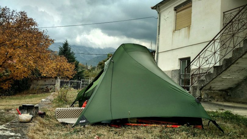 Garden camp in Niže Pole