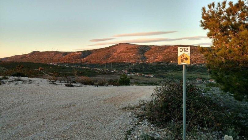Biking trail to Danilo from Krka National Park