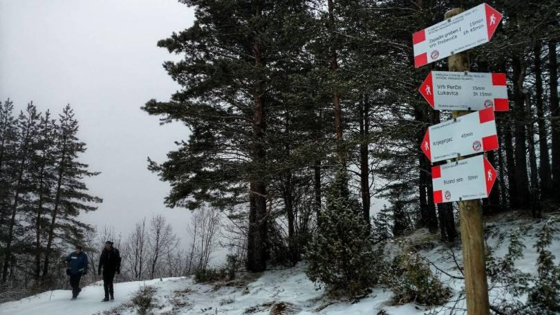 Signpost on Trebević