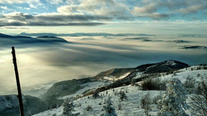 View from Mountain hut Jure Franko on TREBEVIĆ