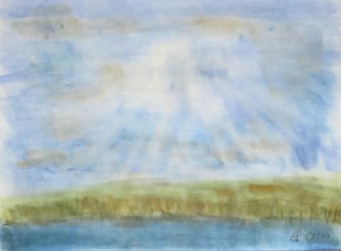 Lützelsee, 2010, mit Passepartout und Rahmen, 40 x 50 cm