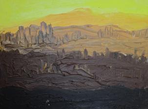 Toscana IV, 2010, Leinenmalkarton 30 x 40 cm