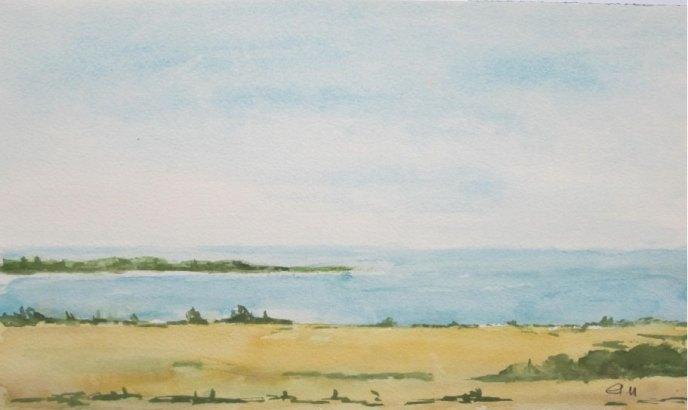 Küste bei Ostfriesland, 2011, mit Passepartout und Rahmen, 40 x 50 cm