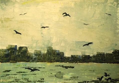 Skyline, 2001, mit Passepartout und Rahmen, 60 x 80 cm