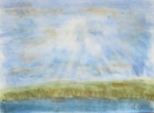 Lützelsee, 2010, Weichpastellkreide, mit Rahmen und Passepartout 40 x 50 cm