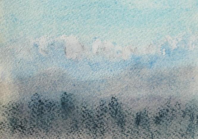 Winter, 2014 , Pastellkreide 30 x 40 cm