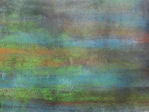 Schilf, 04. 2018 Teer, mit Acryl, , auf Karton 22.5 x 17 cm mit Rahmen 30 x 30 cm
