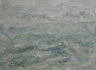 Stürmischer Lützelsee, 09.2020, Aquarell, 09.2020 mit Passepartout und Rahmen 40 x 50 cm