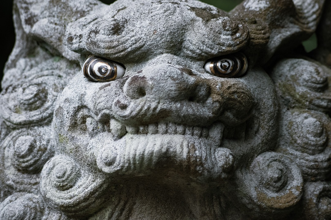 Statue with crazy eyes - Japan