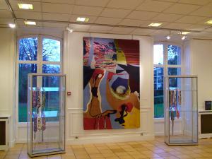 Flurt au musee dune autruche pop (tapisserie)