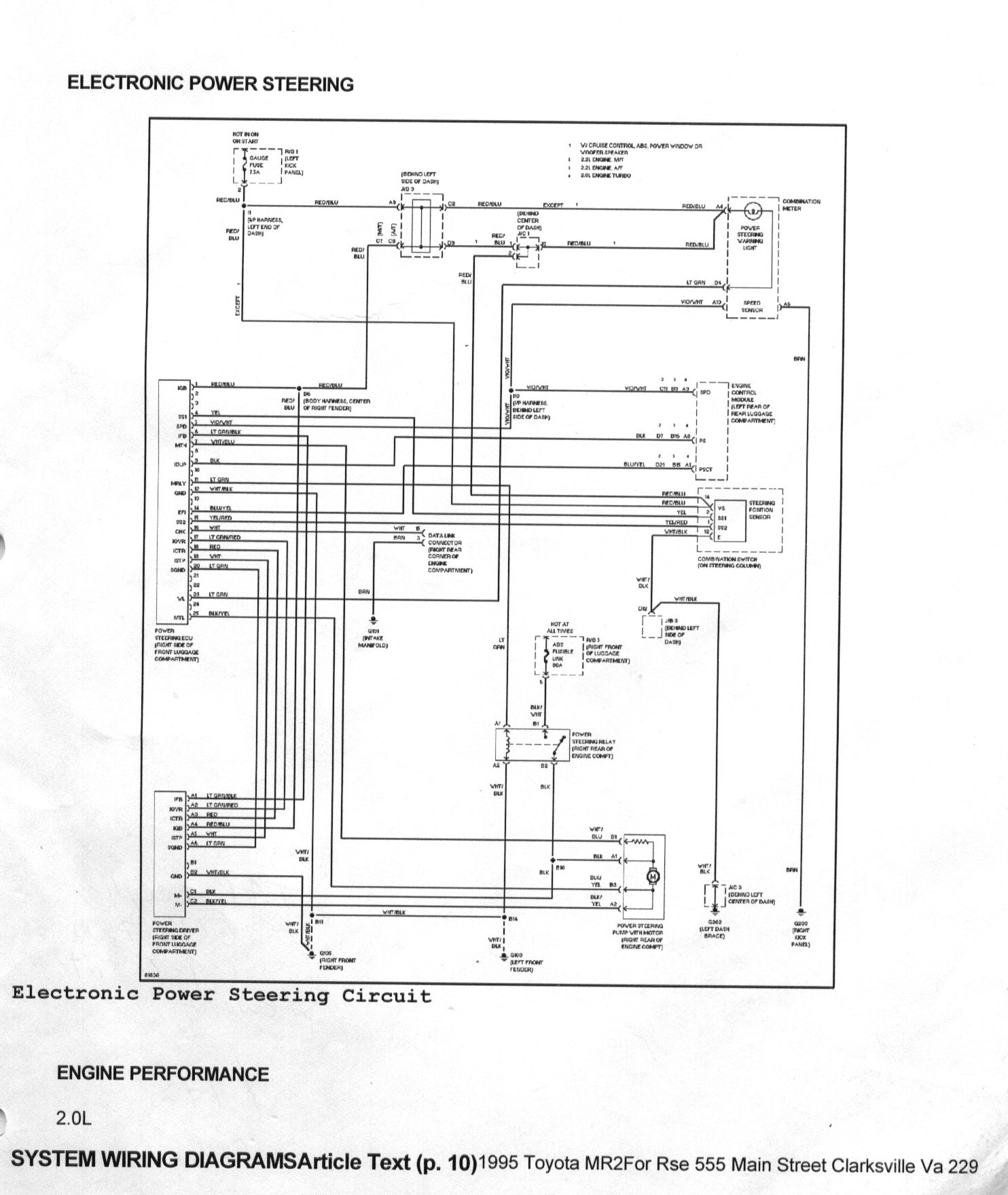 Vauxhall Astra Power Steering Wiring Diagram