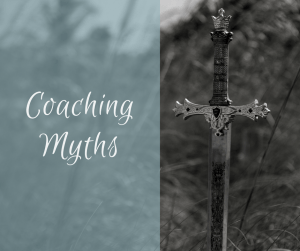 Feature image for blog about coaching myths