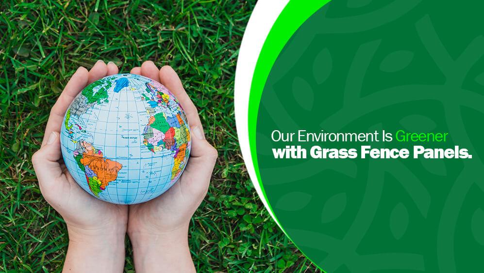 green grass fence