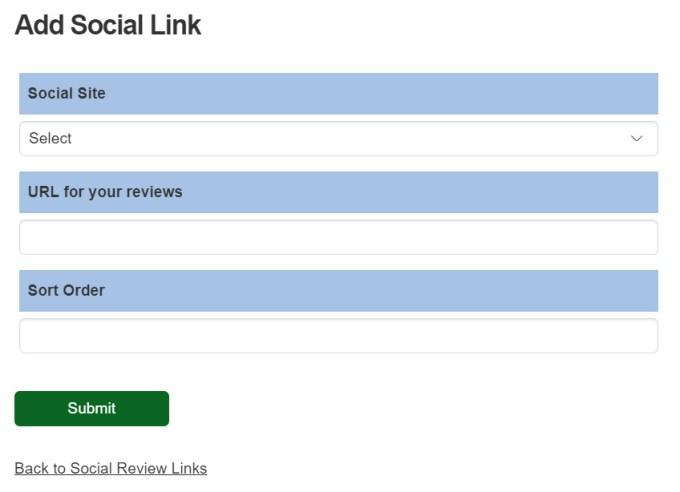 Add Social Link