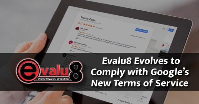 Evalu8 Complies with Google TOS