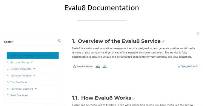 Evalu8 documentation