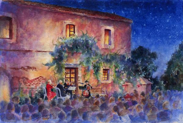 orchestra at night