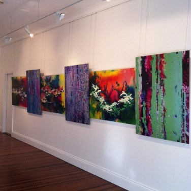 Now hanging at @graydon, #Brisbane. I'm having my own one-person art party. FRIDAY!