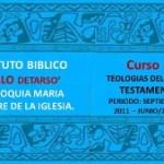 El instituto «Pablo de Tarso» extensión en  la Parroquia María madre de la Iglesia, invita a su curso de Teologías del nuevo testamento. Impartido por Pedro Peredo Fernández
