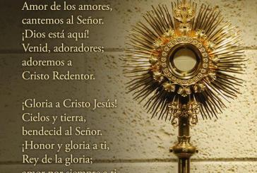 Acción de Gracias a Jesús Sacramentado.