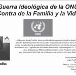 """Conferencia: """"La guerra ideológica de la ONU contra la familia y la vida."""""""