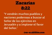 Del libro del Profeta Zacarías 8,20-23. Martes 28 de Septiembre de 2021.