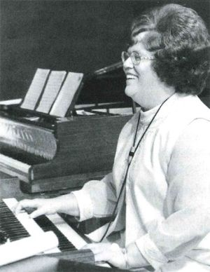 Nancy at the Hammond organ