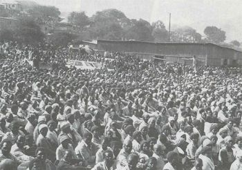 People gathering in South Africa