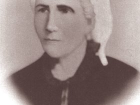 An artist's conception of Melissa Murphy about the time of the first Church of God General Assembly, which she hosted in her Camp Creek, North Carolina, home