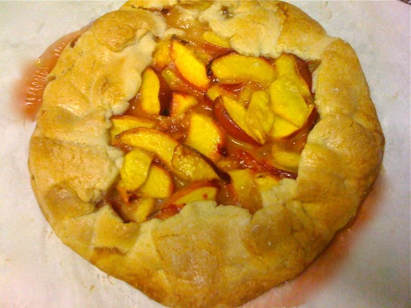 pie, kcrw, pie-a-day, nectarine pie