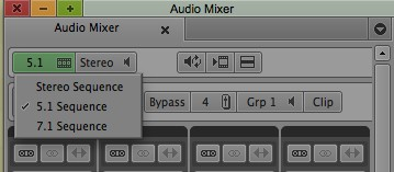 Setting how you want to mix a sequence