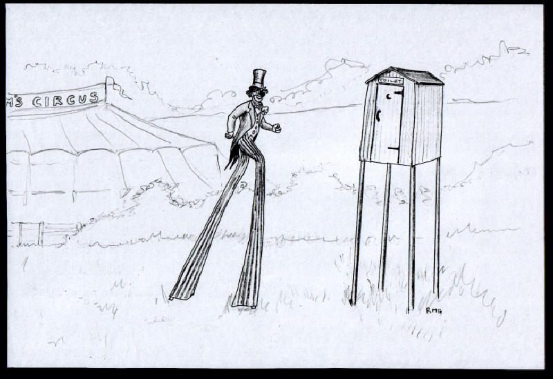 Stilt Walker Toilet