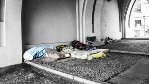 homeless sleeping